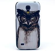 Grey Fanny Owl Pattern Hard Back Cover Case for Samsung Galaxy S4 Mini I9190