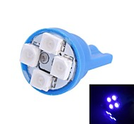 T10 4W 120LM 4×3528 SMD LED Blue Light for Car Dashboard / Door / Trunk Lamps (DC 12V,, 1Pcs)