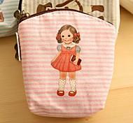Puppe Muster Handtasche Canvas Change (Pink)