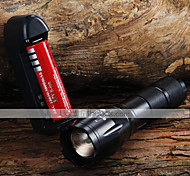 1600LM XML XM-L T6 ZOOMABLE LED Flashlight + 18650 Battery + Charger
