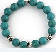 Women's Green Turquoise Beads Bracelet