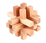 Wooden 14-Piece Lock Puzzle Brain Teaser IQ Toy Magic Cube