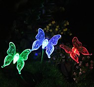 Solar Color-Changing Butterfly Garden Stake Light