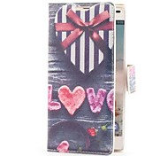 Heart Shape Gift Box Style Leather Case with Card Slot and Stand for LG Optimus L9 P760