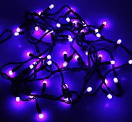 Impermeabilice los 5M 3W Luz Azul 50-LED Luz de tira del LED (110V)