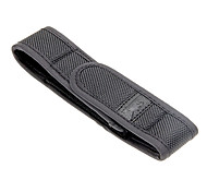 Mini Nylon Holster Holder Belt Pouch for LED Flashlight Torch - Black