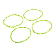 Fashion Assorted Color Fluorescent Light Green Fabric Hair Ties For Women(4 Pcs)