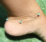 Shixin® Fashion Tassel Alloy Anklet(Blue,Dark-blue,Black,Pink,Purple)(1 Pc)