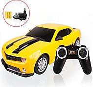 Rádio Controle 1:22 4CH Car Yellow faróis LED