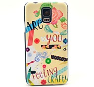 Gift Are You Feeling Crafty Pattern Hard Case Cover for Samsung Galaxy S5 I9600