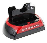 "CP-876-J All-in-1-2.5 ""3.5"" IDE / SATA / eSATA HDD Docking mit Kartenleser (Red & Black)"