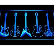 Guitar Weapons Band Room Neon Light Sign