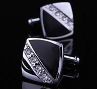Boutons de manchette robe pour les hommes avec cristal de diamant Carré (1 paire)