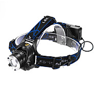 Lights Headlamps LED 1200 Lumens 3 Mode Cree XM-L T6 18650 Adjustable Focus / Waterproof / Rechargeable Multifunction Aluminum alloy