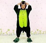 New Cosplay Green Dinosaur  Flannel Toilet version Children Kigurumi Pajama
