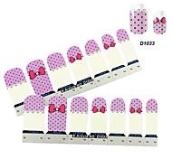 4x7PCS Cartoon Purple Bownot Nail Art Stickers