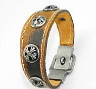 Retro Rivet Leather Bracelet