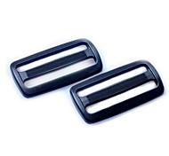Heavyduty Plastic Triglide Slides 50 milímetros - Preto (2-Pieces Pacote)