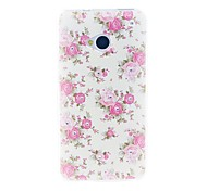 For HTC Case Rhinestone Case Back Cover Case Flower Soft TPU HTC