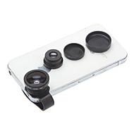 Fish-Eye + 0,67 x lente gran angular Macro con soporte de tubo por Samsung y iPhone y Sony y HTC Cell Phones & Tabs (S3/S4/S5/Note2/3)