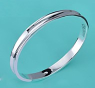 Fashion Silver Women's Silver-Plated Round Bangles (1 Pc)