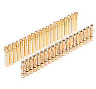 (10 par) 4,0 milímetros de ouro Bala plugue conector com Protector / Capa