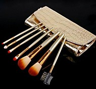 7 Makeup Brushes Set Nylon Face / Lip / Eye