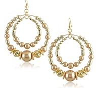 Z&X®  Fashion Pearl Many Loops Big Drop Earrings