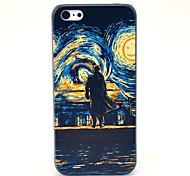 Stampa Oil Man and Hard Case Sun Pattern for iPhone 5C