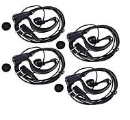 Qualitäts-Berufs 3,5 mm 2,5 mm Kopfhörer mit Clip für die meisten Walkie Talkies (4PCS/145cm)