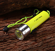Diving Flashlights LED 1 Mode 350 Lumens Waterproof / Rechargeable Cree XR-E Q5 AA Multifunction - Others Aluminum alloy / Plastic