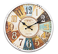 "13.5""H Retro Mediterranean Metal Wall Clock"