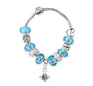 Blue Beads Charm Bracelet