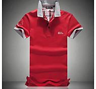 Men's Short Sleeve Polo , Cotton Casual