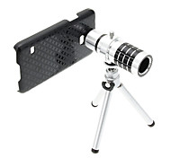 Zoom 12X Telephoto Aluminum Cellphone Lens with Tripod for S5