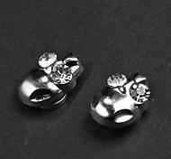 Punk Skull pendientes magnéticos (1 par)