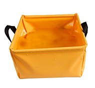 PVC laminé bassin pliant - Orange + Gris (5 L)