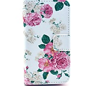 The Blooming Peony in Figure PU Leather Full Body Case for iPhone 4/4S