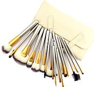 18PCS Professional Shine Luxury Gold Color Handle Persian Wool Brush Set
