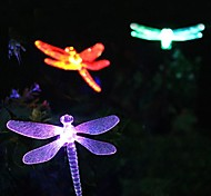 Solar Color-Changing Dragonfly Garden Stake Luz