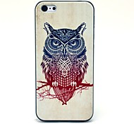 Patroon Retro Uil Hard Case voor iPhone 5C