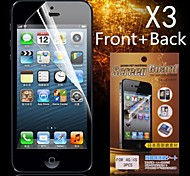 Protettivo HD Front + Back Screen Protector per iPhone 4/4S (3PCS)