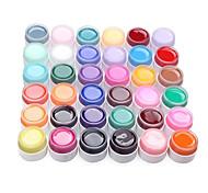 36PCS Manicure Nagelsonder Pure Color Mix UV Color Gel Kits (8 ml)
