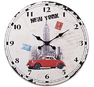 "23""H Old New York Style Wood Wall Clock"