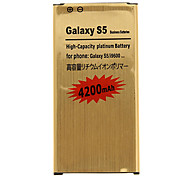 4200mAh Cell phone Battery Golden for Samsung Galaxy S5/i9600 with Charger