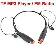 esportes headphone usb neckband com rádio ranhura tf fm para pc