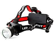 Headlamps LED Mode 800 Lumens Waterproof Cree T6 18650 Camping/Hiking/Caving Black Plastic