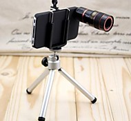 IPHONE5  8X Telephoto Lens with Tripod and clip - Black / White