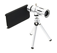 Zoom 12X Telephoto Metal Cellphone Lens with Tripod for iPhone 5C
