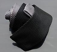 Uomo Classic Skinny doppio colore maglia Ties (Nero con Grigio) 1pcs